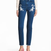 Embroidered Jeans - from H&M