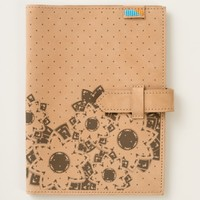 Custom Leather Journal Polka Dots and Flowers