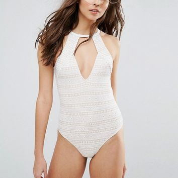 Minkpink Lace Swimsuit at asos.com