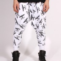 Men's White Drop Crotch Sweatpant by Boy London - ShopKitson.com