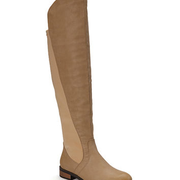 Chase & Chloe Nude Moore Over-the-Knee Boot | zulily