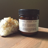 dry shampoo ~ patchouli, lavender, & ginger ~ all organic ~ natural hair care ~