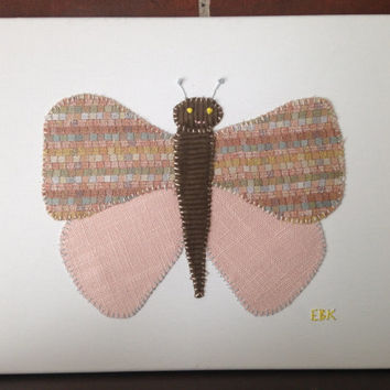 Light Pink Butterfly with Checks