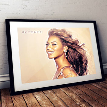 "Beyoncé Giselle Knowles-Carter Fan Art Poster 11""x17"" or 24""x36"" Original Painting- Printed in High Quality"