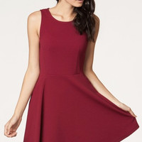 Everly Burgundy Gameday Dress