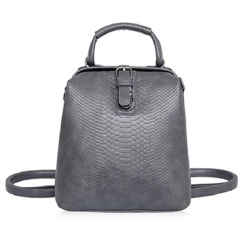 Fashion Style Women Crocodile Pattern Doctor Women Backpack Famous Bags Women's PU Leather Rucksack Bag Z762