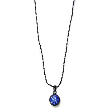 Apparel Addiction Jewelry Single Stone Necklace in Blue