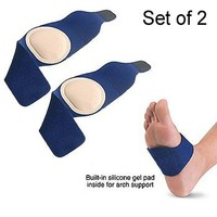 PolyGel Silicone Gel Foot Arch Wraps SM/MD - (Set of 2)
