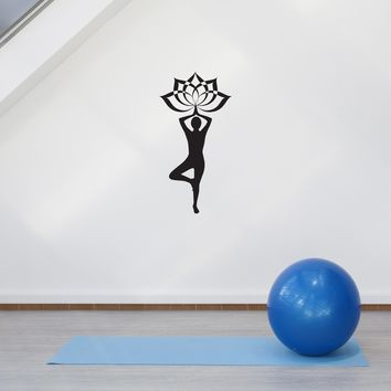 Wall Vinyl Sticker Yoga Lotus Spa Relax Meditation Decal Decor Unique Gift (g024)