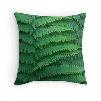 Fern pillow, fern cushion, green pillow, green cushion, nature cushion, nature pillow, throw pillow, scatter cushion, cushion cover
