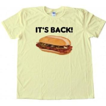 Mcrib Its Back Mcdonalds Custom Men's Gildan Adult T-Shirt