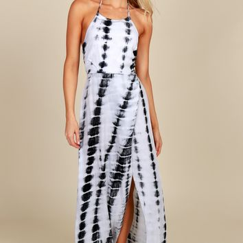 Sea Side Tie Dye Maxi Black