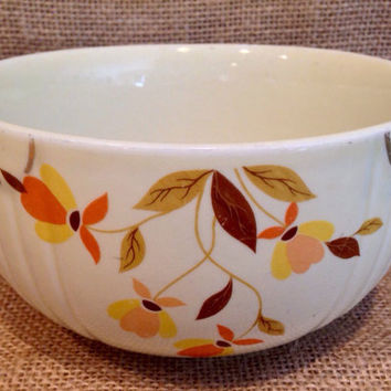 Hall autumn leaf design serving bowl