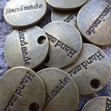 Metal  Personalization Embellishment Tags 30 Count