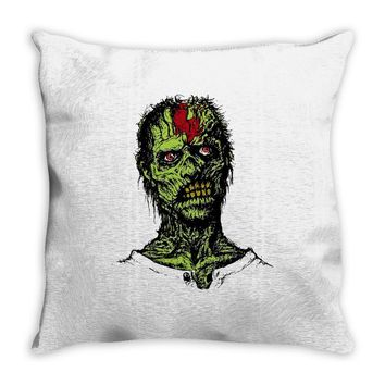 zombie brain out Throw Pillow