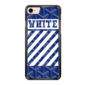 Off White Goyard Blue iPhone 7 Case