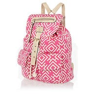 Pink Aztec print backpack - backpacks - bags / purses - women