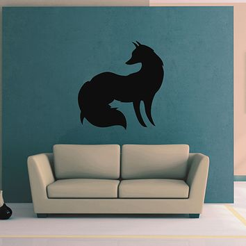 ik2947 Wall Decal Sticker animal fox living room bedroom