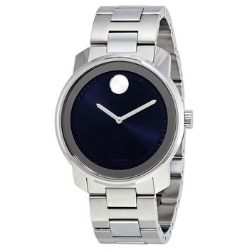 Movado Bold Dark Blue Dial Stainless Steel Mens Watch 3600423