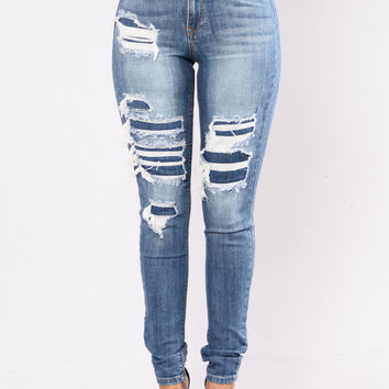 Back To Back Jeans - Medium Blue
