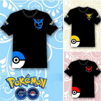 Pokemon Patch Print Short Sleeve T-Shirt