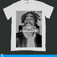 Tupac Amaru Shakur screen print men t shirt ety12M