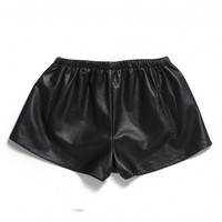 VESNA SHORTS (LEATHER) BLK