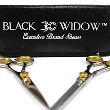 Black Widow ERGONOMIC PROFESSIONAL Barber and Salon Hair Cutting Scissors Thinning/Texturizing Shears Set