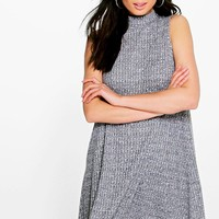 Naomi Marl Rib Sleeveless Swing Dress