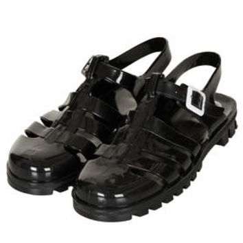 HUEY2 Jelly Sandals - Black