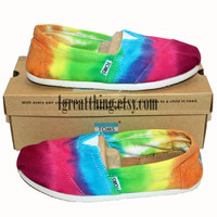 Tie Dye TOMS Shoes  - Size 5 - Ready To Ship for Back To School :)