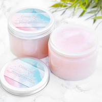 Cotton Candy Sugar Scrub - Christmas Gift Ideas For Girlfriend - Stocking Stuffer Teen Girl - Teenager Gifts - Exfoliating Scrub - Skin Care