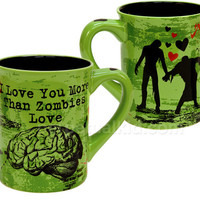 ZOMBIE MUG - I LOVE YOU MORE THAN BRAINS MUG