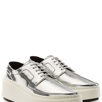 Kenzo - Metallic Leather Lace-Ups with Platform
