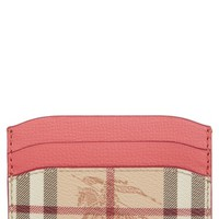 Burberry Izzy Faux Leather Card Case | Nordstrom