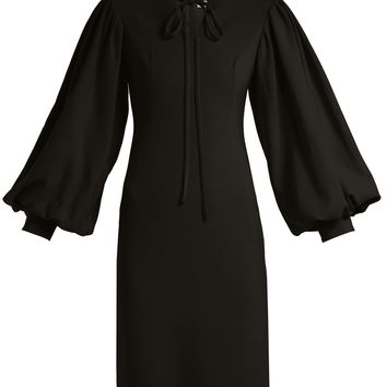 Puff-sleeve crepe dress | Osman | MATCHESFASHION.COM US