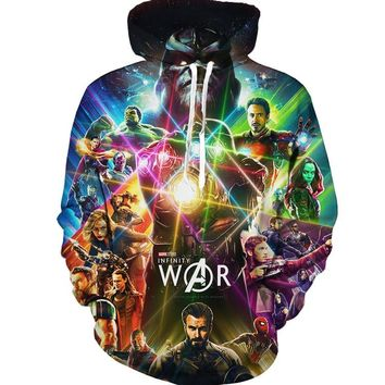 Marvel Movie Avengers: Infinity War 2018 New Fashion hoodies Men pullovers 3d Print Hooded sweatshirt