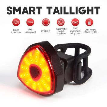 Smart Bicycle Flashlight Bike Rear Light For Bicycle Light  LED Brake Sensing IPx5 USB Rechargeable Cycling Taillight