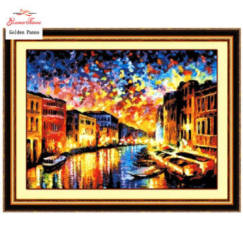 Needlework,DIY DMC Cross stitch,Sets For Embroidery kits,Precise Printed Venice  Patterns Counted Cross-Stitching