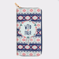 Wild and Free Feather Wallet