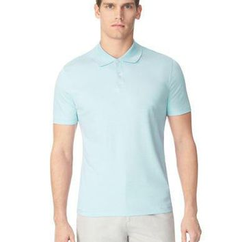 Calvin Klein Pima Liquid Interlock Stripe Polo Shirt