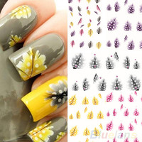 Creative Feather 3d Nail Art