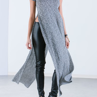 Sweater Weather Double Slit Maxi