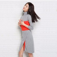 New Fashion Women Dress Cashmere Knitted Sweaters for ladies Turtleneck Winter Warm Pullover Women Clothes