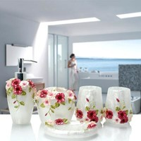 Multi-models Optional Bathroom set resin bathroom set of five pieces bathroom toiletries kit bathroom accessories