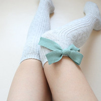 Wool Knitted Thigh high socks Leg warmer Boot socks Preppy Pin up Cozy Holiday Christmas gift