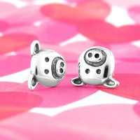 Silly Pig Face Earrings