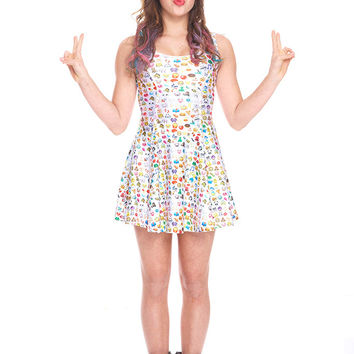 Girls Emoji 2.0 Skater Dress