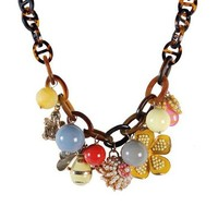 ZLYC Women Summer Fashion Sweet Style Colorful Necklace Charming Beach Wedding Prom Jewelry