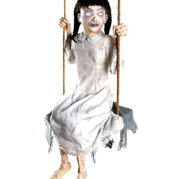 Zombie Girl Swing Animated Prop – Spirit Halloween